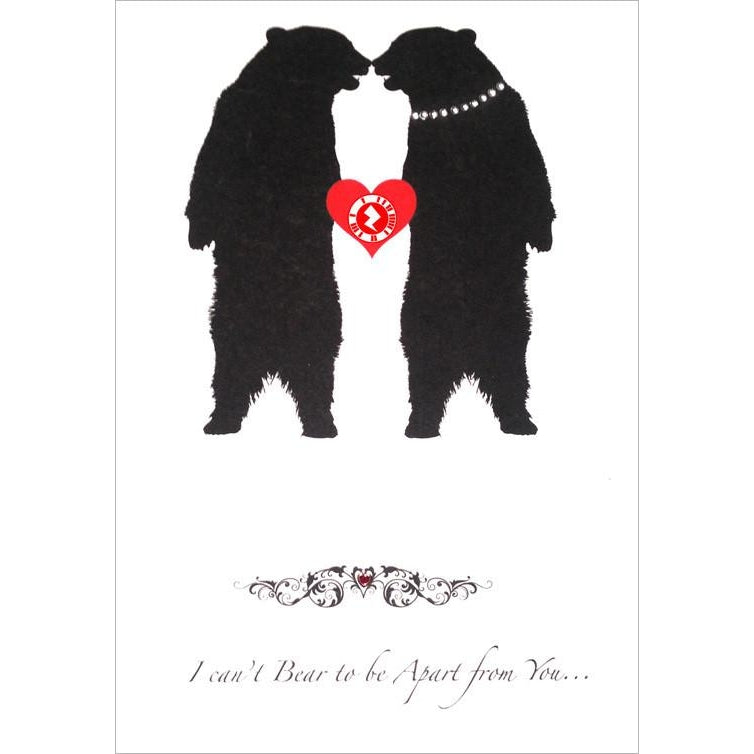 Love Zapz 'I Can't Bear to Be Apart From You' Bear Valentine's Augmented Reality Greeting Card