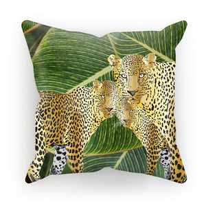 THREE GOLD LEOPARDS Designer Cushion/Pillow
