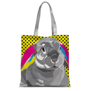 CMYK Rabbit Sublimation Tote Bag
