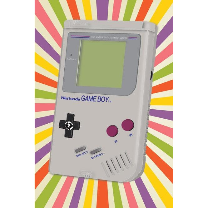Zapz Birthday Card Retro Nintendo Game Boy Augmented Reality Greetings
