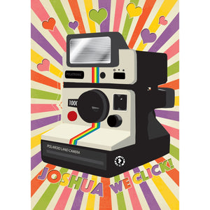 Zapz Valentine's Card Retro Polaroid Camera Personalised Augmented Reality Greetings