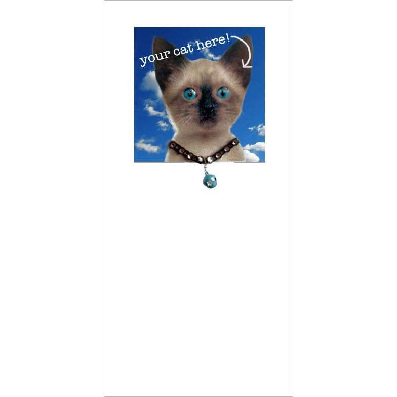 posh pawz siamese your own cat kitten here greeting card