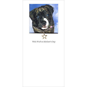 posh paws american bulldog puppy mothers day card