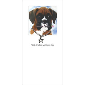 posh pawz boxer puppy mothers day card