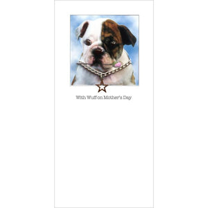 posh pawz bulldog puppy mothers day card