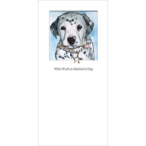 posh pawz dalmation puppy mothers day card