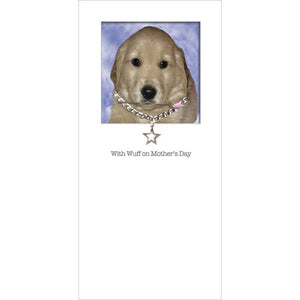 posh paws golden retriever puppy mothers day card