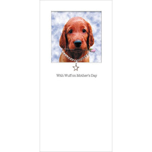 posh paws irish setter puppy mothers day card
