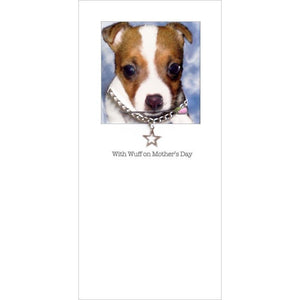 posh pawz jack russell puppy mothers day card