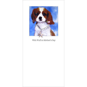 posh paws king charles puppy mothers day card