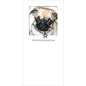 posh pawz pug puppy mothers day card