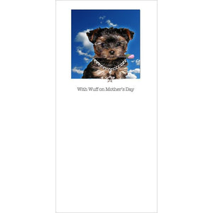 posh pawz yorkshire terrier puppy mothers day card