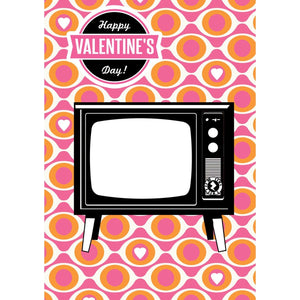 Zapz Valentine's Card Retro Television TV Personalised Video Augmented Reality Greetings