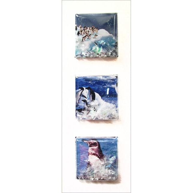 Shakers 'N' Movers Christmas 3D Penguins Greeting Card