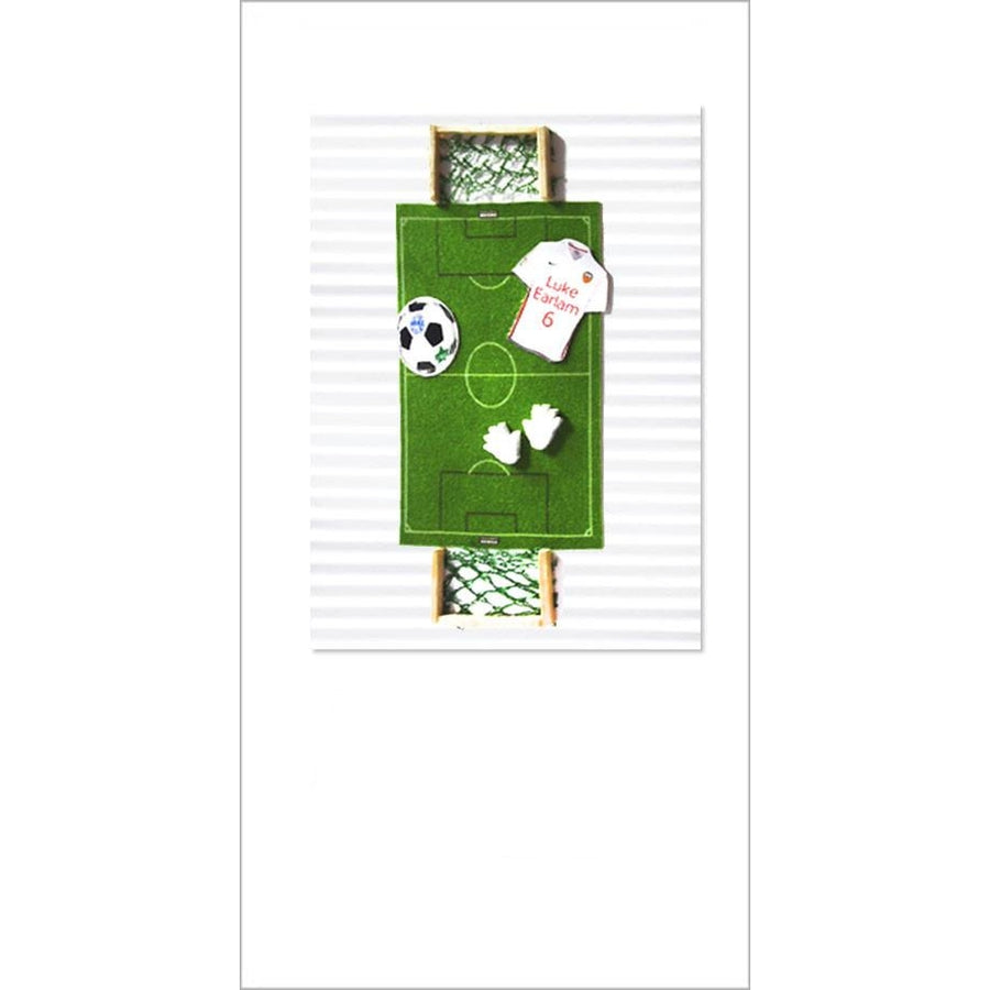 Sportz Football Pitch Greeting Card
