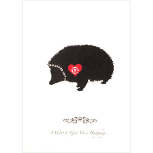 Love Zapz Hedgehog Valentine's Augmented Reality enhanced Greeting Card