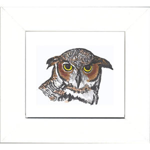 Augmented Reality Wall Art Framed Print - Owl Flight