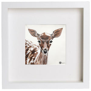 Augmented Reality Wall Art Framed Print - Fawn Deer
