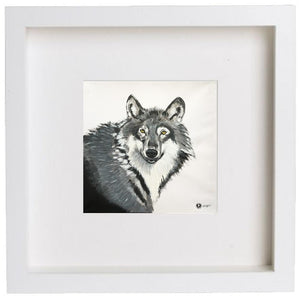 Augmented Reality Wall Art Framed Print - Grey Grey Wolf