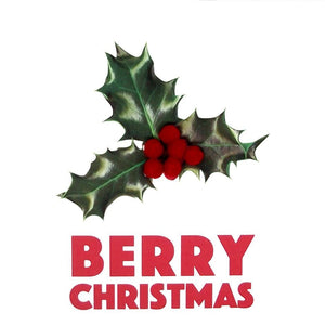 "Holly & Berry ""Berry Christmas"" Square Greetings"
