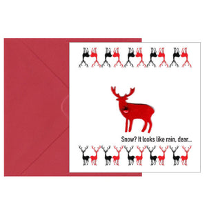 Christmas Reindeer Square Greeting Card
