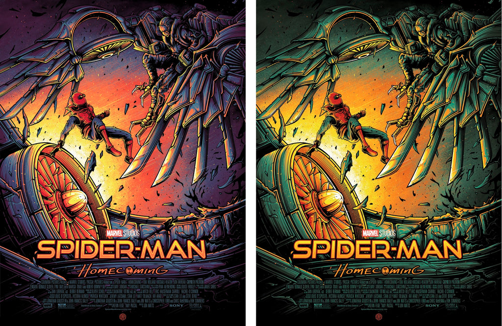 """Spider-Man: Homecoming"" Matching Set by Dan Mumford"