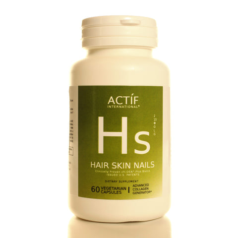 Actíf International® Hair Skin Nails™ - 60 Veggie Capsules - Patented Formula