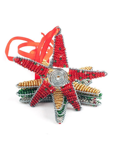 Glass beaded Christmas Stars