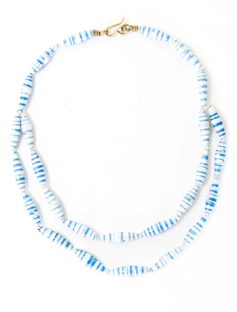Childs Blue & White  Princess Necklace
