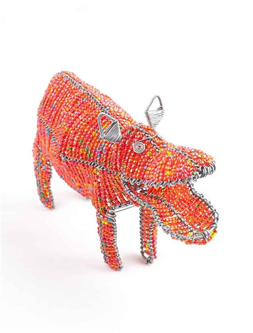 Glass beaded Hippo