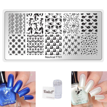 Nautical Set - Plate, Polishes, Stamper, & Scraper