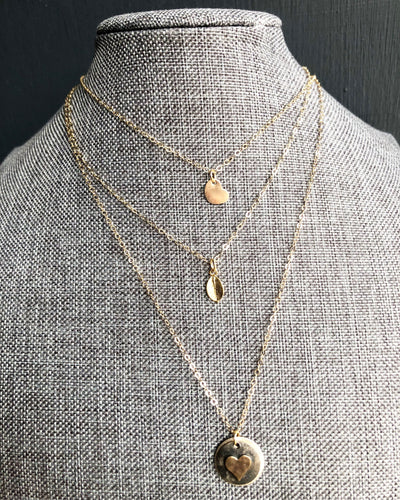 14k gold filled heart + 14k gold filled chain