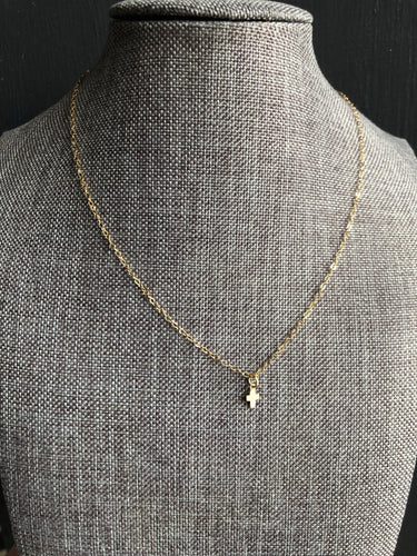 14k Gold filled cross and chain