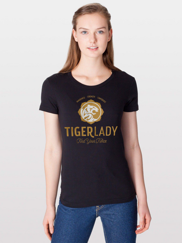 Women's Black Tigerlady T-shirt