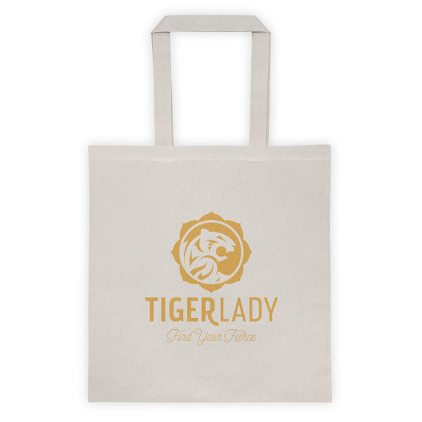 TigerLady Cotton Canvas Natural Tote bag