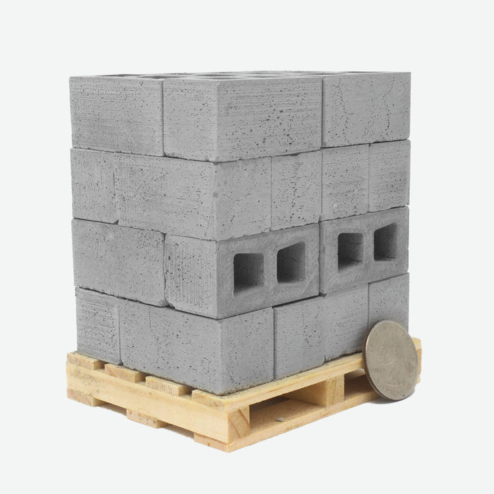 1:10 Scale Mini Cinder Blocks (24pk + Pallet)