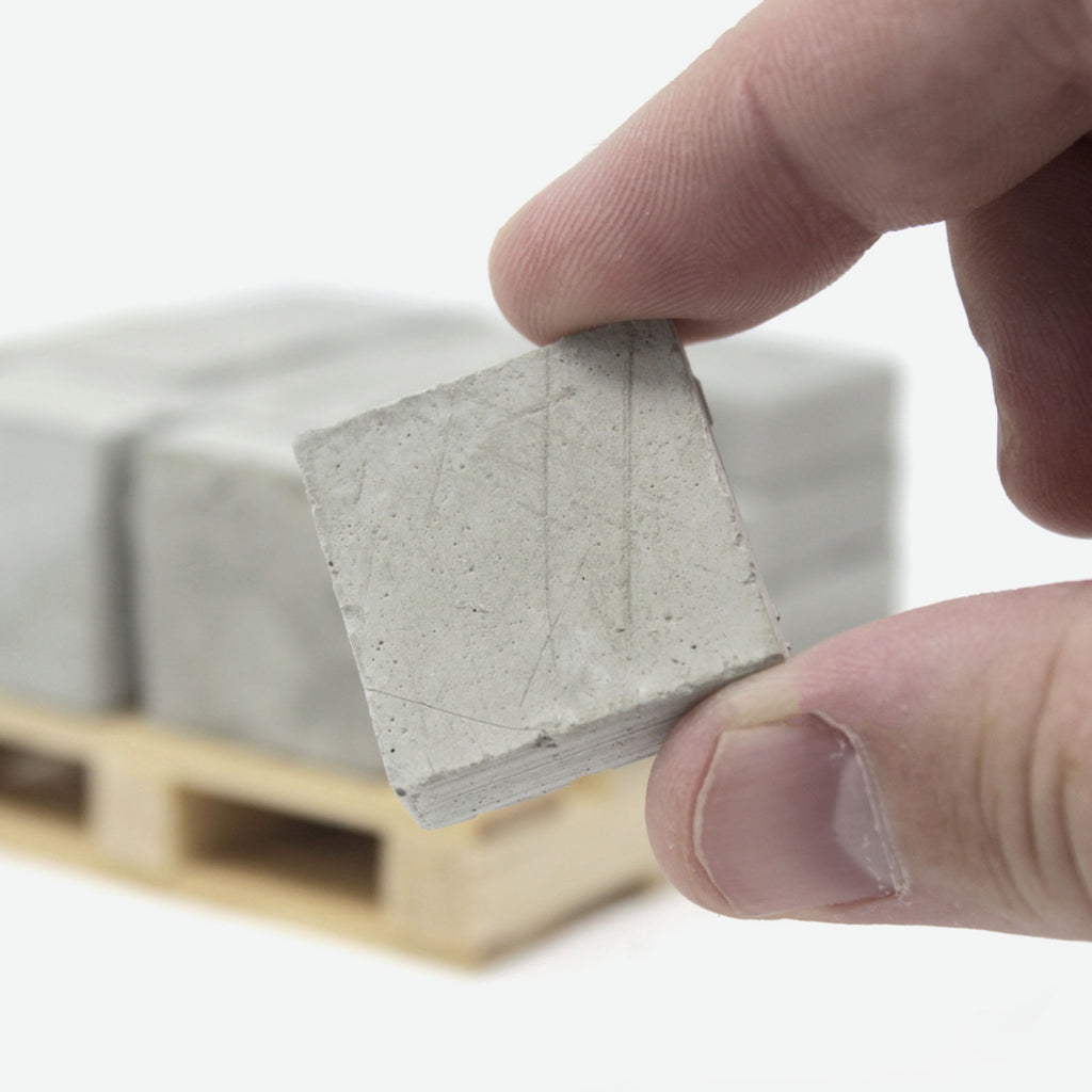 1:12 Scale Mini Cement Pavers (20pk + Pallet)