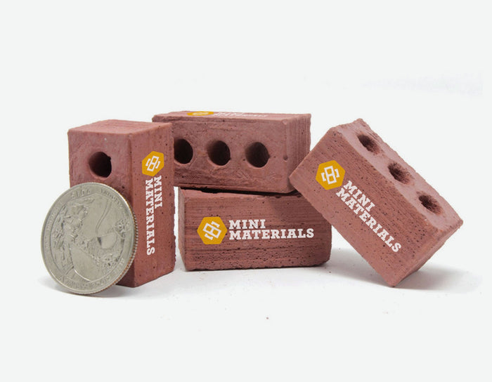 1:6 Scale Mini Red Bricks - Custom Printed