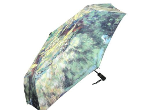 CLAUDE MONET WATER LILY POND AUTOMATIC OPEN COMPACT FOLDING UMBRELLA HW-70