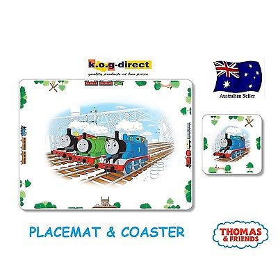 THOMAS TANK & FRIENDS CHILD'S CORK BACK PLACEMAT & COASTER SET PORTMEIRION NEW