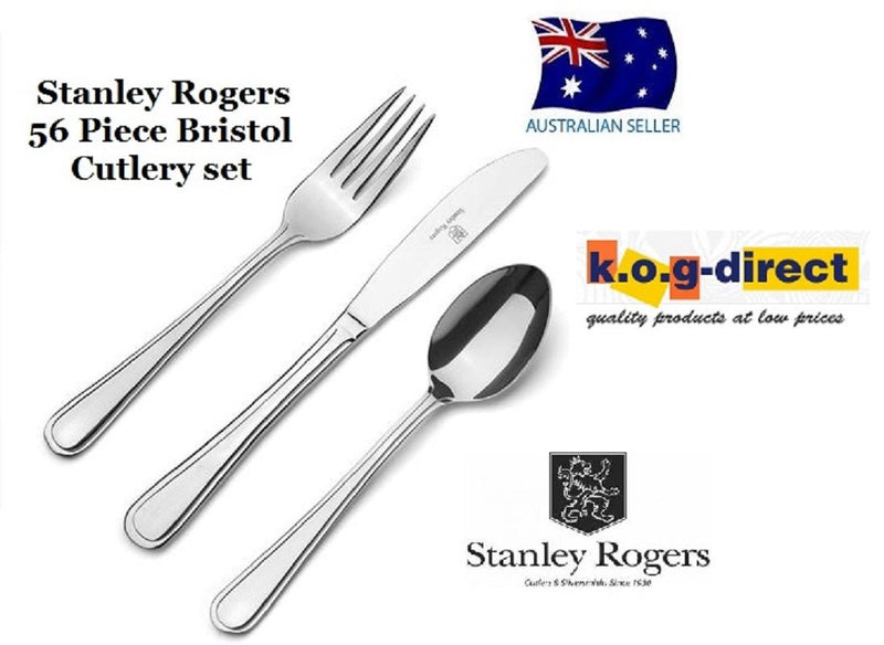 56 Piece Cutlery Set Stainless Steel STANLEY ROGERS BRISTOL NEW RRP $249