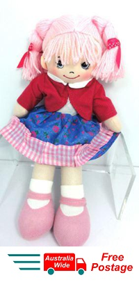CUTE AZZ COLLECTABLE RAG DOLL PINK HAIR RAGDOLL 35 CM TALL HW-104D
