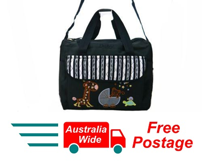 TRENDY BABY DIAPER TOTE NAPPY BAG WITH CHANGE MAT NAVY BLUE HW192
