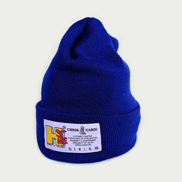 Hst Size Matters Beanie (Royal Blue) - CHRiS CARDi House of Design
