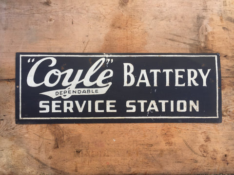 Coyle Battery Sign