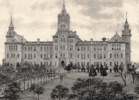 Panorama of the University of Texas - 1907