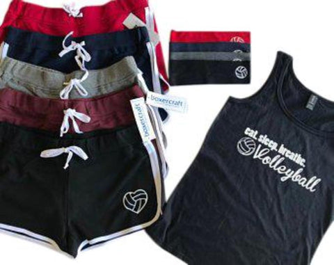Eat Sleep Breathe Volleyball Short, Tank Top and Volleyball Headband Gift Set