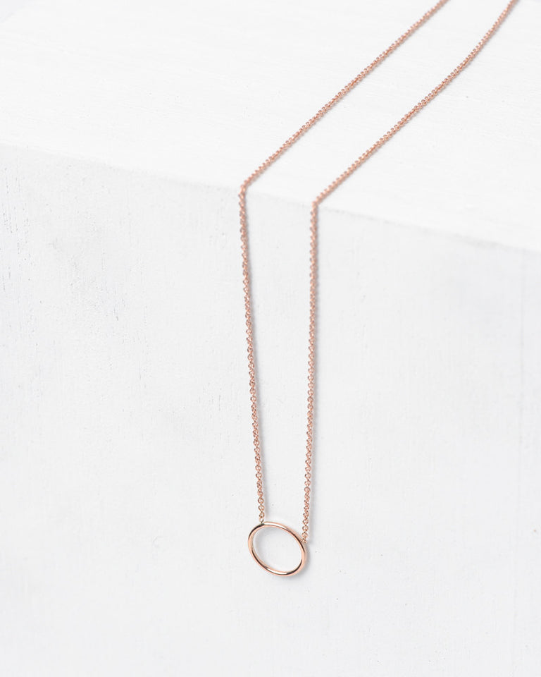 By Myself Necklace in 14k Rose Gold