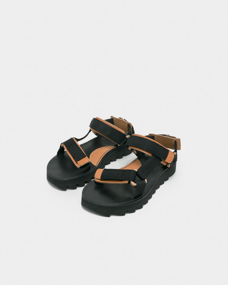 Webb Sandal in Black Natural