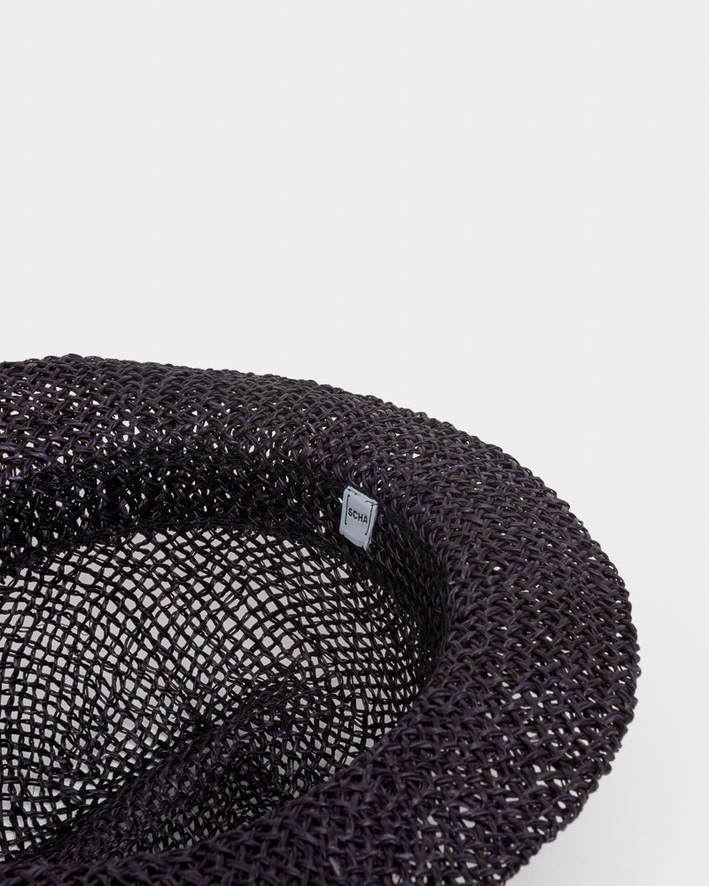 "Chicago Short ""D"" Seagrass Hat in Black by SCHA- Mohawk General Store"